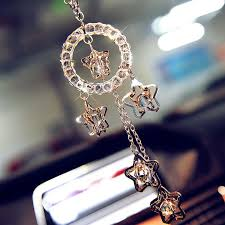 personalized rear view mirror charms car charm ornaments bling lucky charms for rearview mirror