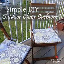 simple diy outdoor chair cushions