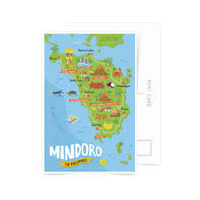 san jose mindoro map buy mindoro illustrated map postcard in shop philippine
