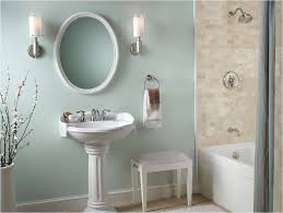 bathroom decorations ideas french country bathroom idea with oval mirror and pedestal sink
