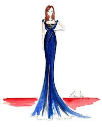 oscar dresses 2015 gorgeous fashion sketches glamour