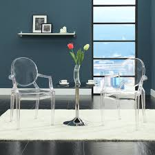 lexmod philippe starck style louis ghost chair in clear amazon ca