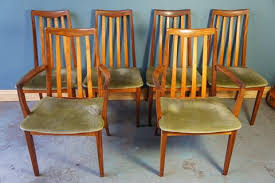 G Plan Dining Chair Six Vintage Mid Century G Plan Fresco High Back Dining Chairs