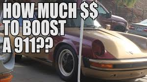 how much does it cost to turbocharge a vintage porsche youtube