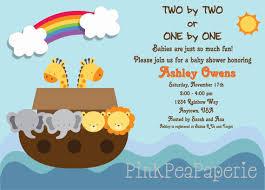 noah ark baby shower noah s ark baby shower invitation digital by pinkpeapaperie 8 00