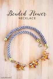 make bead flower bracelet images Beaded flower necklace tutorial crafts unleashed jpg