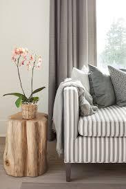 Striped Sofas Living Room Furniture Striped Sofa Transitional Living Room Deck Design