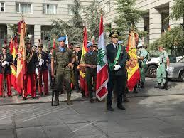 Libanese Flag Spanish Army Raises Lebanese Flag In National Kataeb