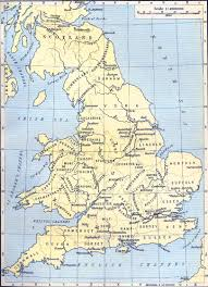 A Map Of England by Map Of American History In England
