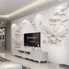 online get cheap custom wall murals aliexpress com alibaba group wall mural custom wallpaper for walls 3 d european style solid color abstract stereoscopic relief flower