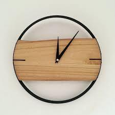 wall clocks pinjeas clock 11inch wall clock natural wood wall clock decor