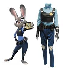 police halloween costumes movie zootopia rabbit judy hopps cosplay costume police officer