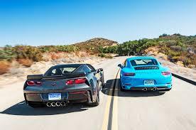 2017 chevrolet corvette grand sport vs 2017 porsche 911 s