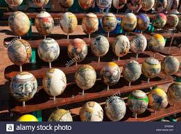 painted ostrich egg painted ostrich eggs stock photo 68426686 alamy