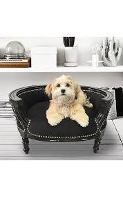 canapé lit pour chien canapé lit pour chien ou baroque velours noir et bois laqué noir