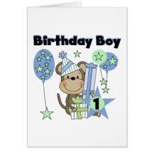 monkey 1st birthday greeting cards zazzle