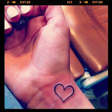 tattoo heart wrist outline black to cutee things i want