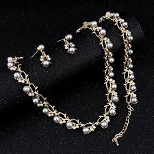 elegant necklace set images Classic imitation pearl elegant jewelry set emall xpress jpg