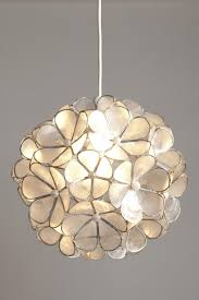 Ceiling Lamp Shades Stylish Natural Capiz Shell Flower Ball Non Electric Ceiling Light