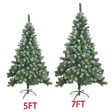5ft 7ft large artificial tree snow cones realistic