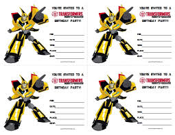 transformer birthday free printable transformer birthday invitations printable