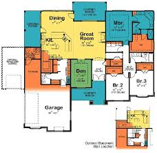 home plans homepw76422 2 454 square feet 4 bedroom 3 53 best house plans one story images on pinterest floor plans