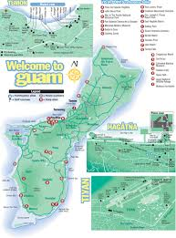 Map Of International Airports Large Detailed Tourist Map Of Guam With All Roads And Airports