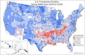 1996 Presidential Election Map by Map Showing Shift In Party Voting From 2004 To 2008 X Post R