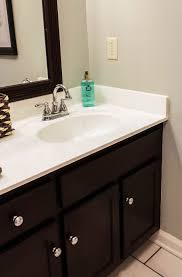 bathroom counter top ideas how to paint cultured marble countertops diy tutorial