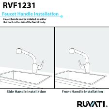ruvati rvf1231st pullout spray single handle kitchen faucet