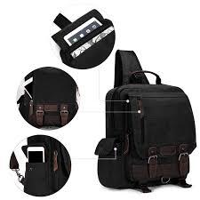 North Carolina travel backpacks for men images Men canvas shoulder bag chest cycle front sling backpack satchel jpg