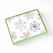 snowflake boxed holiday cards by kate spade new york set of 10
