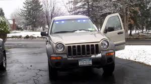 liberty jeep 2002 updated jeep liberty blue light pov youtube