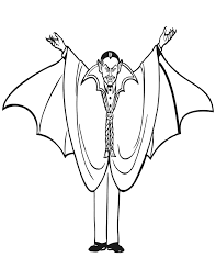 halloween vampire coloring pages vampire coloring page count dracula with arms out coloring home