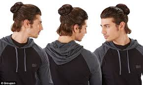 how to grow out boys hair groupon now selling clip on man buns for men who want the hipster