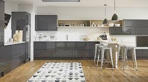 cuisine aubergine et gris meuble cuisine aubergine mat pour idees de deco de cuisine nouveau