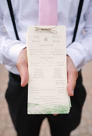 Wedding Ceremony Program Ideas Unique Wedding Ceremony Programs Brides