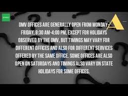 is the dmv open on weekends in ny