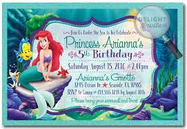 princess ariel mermaid birthday invitations 282