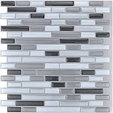 kitchen backsplash stick on tiles amazon com art3d 12 x 12 peel and stick tile kitchen backsplash