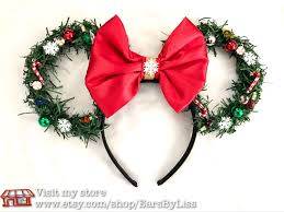 clearance sale christmas wreath disney ears minnie mouse ears