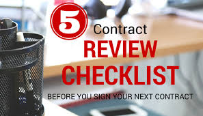 5 contract review checklist items before you sign your next