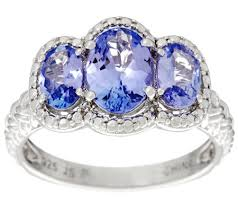 tanzanite stone rings images 3 stone oval tanzanite sterling silver ring 1 50 cttw page 1 001