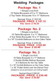 wedding balloon arches uk balloon decor price list matthew lewis displays