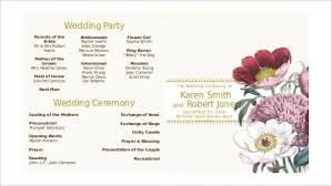 sided wedding programs wedding program template 61 free word pdf psd documents