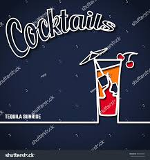 vector illustration cocktail party outline concept stock vector