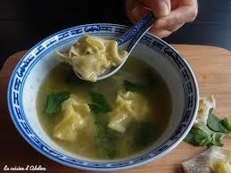 cuisine asiatique facile soupe de wonton raviolis chinois recette asiatique facile et