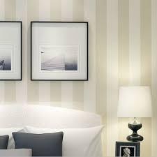 modern simple style beige striped wallpaper livingroom bedroom