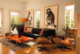 living room fascinating brown and orange living room orange