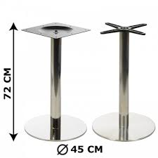 stainless steel table base table base e11 diameter 45 cm polished or brushed stainless steel